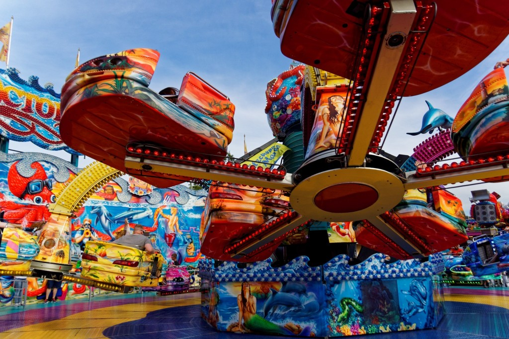 Make sure to check out some of the fair rides and concessions if you come for the huge 4th of July celebration.