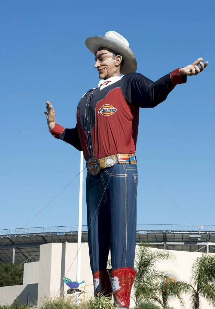 No matter what the event, Big Tex keeps a watchful eye over all of Fair Park.